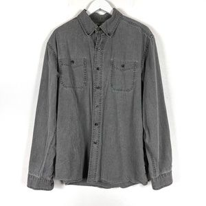 WindRiver Gray Denim Button Up Shirt Large
